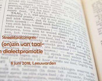 Streektaalcongres 2018 8 juni Leeuwarden